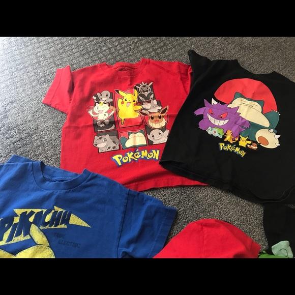 e7798476 Shirts & Tops | 3 Pokmon Kid Tee Shirts Size 7 | Poshmark